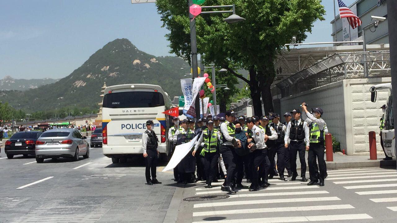 미국대사관,코리아연대,1인시위,광화문_5.jpg